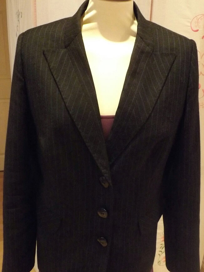 Grey Striped Jacket small
