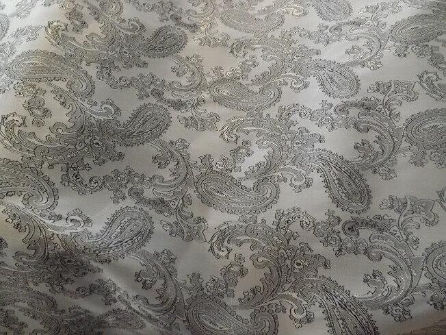 Silver Grey Black jacquard lining small