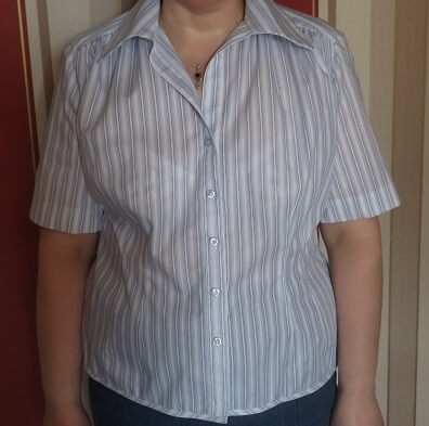 Striped shirt being worn 2