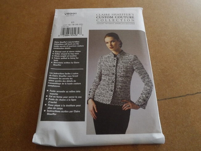 Vogue pattern chanel jacket