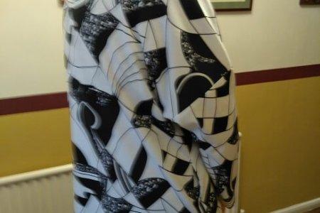 Simple Garment using Beautiful Fabric
