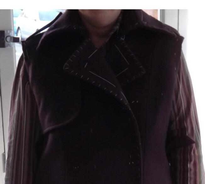 coat collar close up